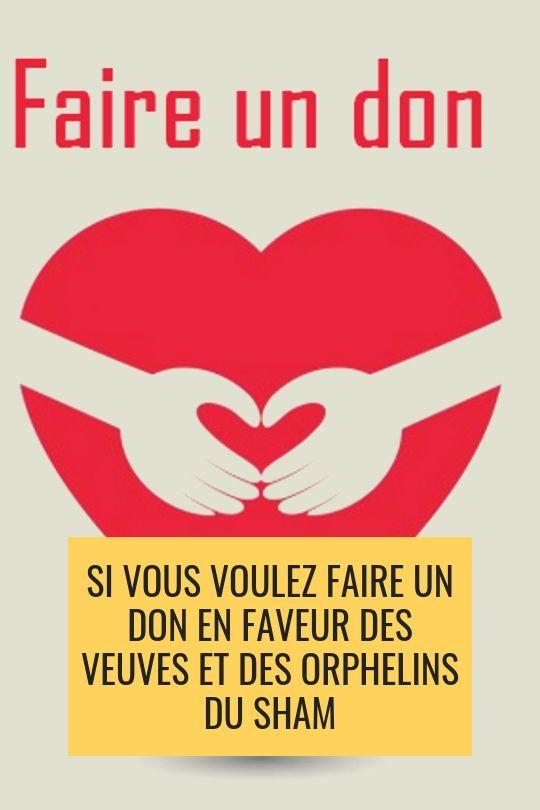 Faire un don en faveur des veuves et des orphelins du Sham à notre partenaire CélanC