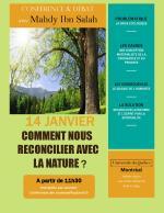 Conférence à Montréal sur la crise écologique