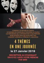 Conférence, 4 thèmes en une journée, le 27/01/2019