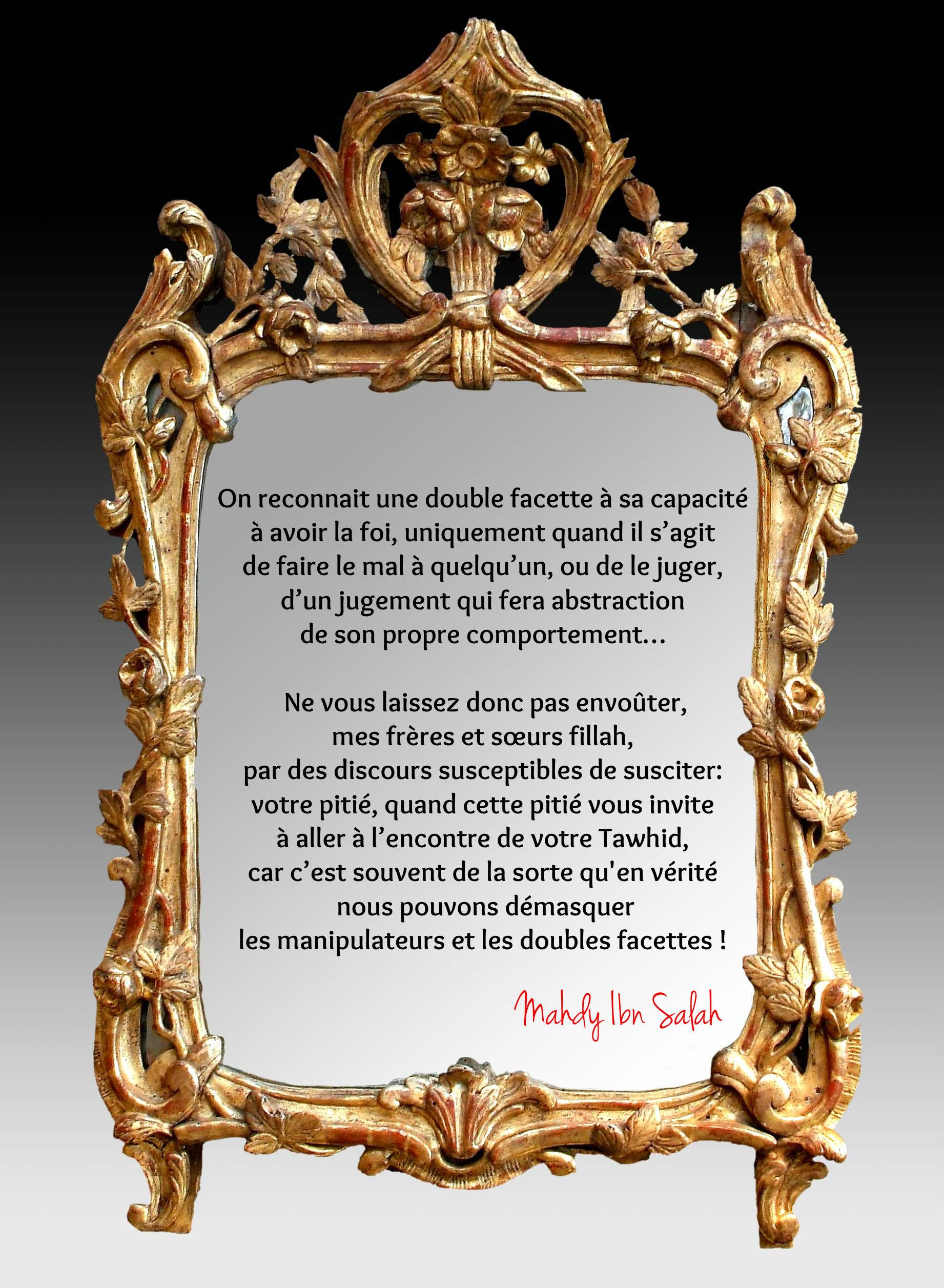 R ponse virulente du patient diagnostiqu double facette for Maladie du miroir